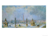 The Place de La Concorde, Paris Giclee Print by Albert-Charles Lebourg