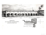 "Old Fort William, Calcutta, with a Conjectural the ""Black Hole"" and Adjacent Chambers Giclee Print by Samuel de Wilde"