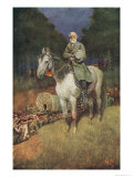 "General Lee on His Famous Charger, ""Traveler"" Giclee Print by Howard Pyle"
