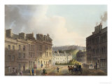 "Marlborough Street, from ""Bath Illustrated by a Series of Views"" Giclee Print by John Claude Nattes"