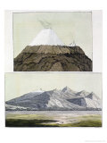 Summit of Cotopaxi, and the Eruption of Cotopaxi, 1803, Published 1820s-30s Giclee Print by Friedrich Alexander Baron Von Humboldt