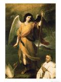 Archangel Raphael with Bishop Domonte Premium Giclee Print by Bartolome Esteban Murillo