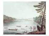 A View of Ticonderoga from a Point on the North Side of Lake Champlain, 1777 Giclee Print by James Hunter