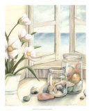 Beach House View I Prints by Megan Meagher