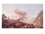 The Battle of Ebersberg Giclee Print by Nicolas Antoine Taunay