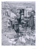 A Quaker Exhorter in New England Giclee Print by Howard Pyle