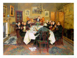 "The Bagman's Toast ""Sweethearts and Wives"" Premium Giclee Print by Walter Dendy Sadler"