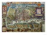 Map of the City and Portuguese Port of Goa, India Giclee Print