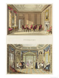 Interiors: the Old Cedar Parlour and the Modern Living Room Giclee Print by Humphry Repton