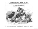 "Slave-Branding, from ""Leeds Anti-Slavery Series"", 1853 Giclee Print by W.h. Mason"