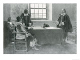 Sir William Berkeley Surrendering to the Commissioners of the Commonwealth Giclee Print by Howard Pyle
