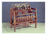 Waterframe Spinning Frame Designed by Sir Richard Arkwright 18th Century, Giclee Print
