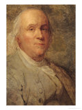 Portrait of Benjamin Franklin circa 1780 Giclee Print by Joseph Siffred Duplessis