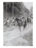 """Washington's Retreat from Great Meadows, Illustration from """"Colonel Washington"""" by Woodrow Wilson Giclee Print by Howard Pyle"""