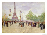 Entrance to the Exposition Universelle, 1889 Giclee Print by Jean Béraud