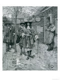 Governor Andros and the Boston People, from Harper's Magazine, 1883 Giclee Print by Howard Pyle