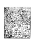 Queen Elizabeth I at a Hunt Picnic Giclee Print
