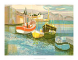 Boats in Harbor II Giclee Print by George Lambert