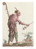 "Iroquois Savage, from ""Encyclopedie des Voyages"", 1796 Giclee Print by Jacques Grasset de Saint-Sauveur"