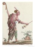 """Iroquois Savage, from """"Encyclopedie des Voyages"""", 1796 Giclee Print by Jacques Grasset de Saint-Sauveur"""