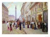 Workers Leaving the Maison Paquin, in the Rue de La Paix, circa 1900 Giclee Print by Jean Béraud