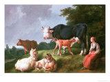 Pastoral Scene Giclee Print by Jean-Baptiste Huet