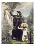 The Cemetery of Pere Lachaise, Printed by Charles Joseph Hullmandel Pub. 1822 Giclee Print by John James Chalon
