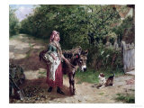 Home from Market Giclee Print by Edgar Bundy