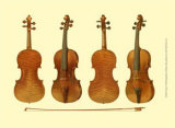 Antique Violins I Print by William Gibb
