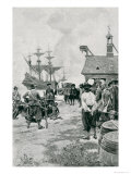 The Landing of Negroes at Jamestown from a Dutch Man-Of-War, 1619 Giclee Print by Howard Pyle