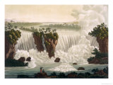 "Niagara Falls, 1818, from ""Le Costume Ancien et Moderne"", Volume I, Plate 30, 1820s-30s Giclee Print by Paolo Fumagalli"