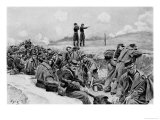 """They Awaited the Order to Charge"""", Illustration from """"Young"""" by William Gilmore Beymer Giclee Print by Howard Pyle"""