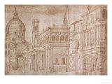 Architectural Capriccio Giclee Print by Baldassare Lanci