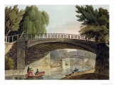 "The Bridges Over the Canal in Sydney Gardens, from ""Bath Illustrated by a Series of Views"" Giclee Print by John Claude Nattes"