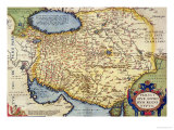 "Map of Persia, from the ""Theatrum Orbis Terrarum"", Pub. by Abraham Ortelius Antwerp, circa 1590 Giclee Print"