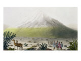 "Mount Chimborazo, Ecuador, from ""Le Costume Ancien et Moderne"", Volume II, Plate 3, 1820s-30s Giclee Print by Friedrich Alexander Baron Von Humboldt"