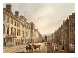 "Milsom Street, from ""Bath Illustrated by a Series of Views"" Giclee Print by John Claude Nattes"