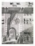 """View of the Door of Okal Kaid-Bey, from """"Monuments and Buildings of Cairo"""" Giclee Print by Pascal Xavier Coste"""