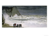Rough Sea at Etretat, 1868-69 Giclee Print by Claude Monet