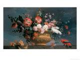 Flower Piece with Parrot Giclée-Druck von Jakob Bogdani Or Bogdany