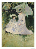 Madame Helleu and Her Daughter at the Chateau of Boudran Giclee Print by Paul César Helleu