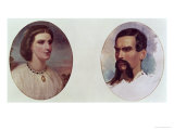 The Marriage Portrait of Richard Burton and Isabel Arundell June 1861 Giclee Print by Louis Lesanges