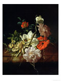 Still Life with Flowers Premium Giclee Print by Rachel Ruysch