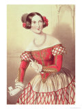 "Madame Sontag as Rosina in ""The Barber of Seville"" 1849 Giclee Print by John Brandard"