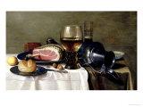 Still Life with Ham Lámina giclée por Pieter Claesz