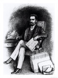 "Joseph Pulitzer from ""The Curio"", 1887 Giclee Print by C De Grimm"