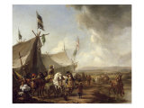 In Front of the Market Tent Giclee Print by Pieter Wouwermans Or Wouwerman