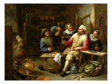 The Lounge Bar, 1657 Giclee Print by Gillis van Tilborgh
