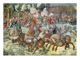 The Battle of Pavia; The Advance of Charles V Giclee Print by Bernard van Orley