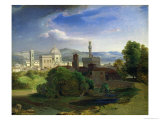 View Over Florence, circa 1829 Gicl&#233;e-Druck von Carl Rottmann